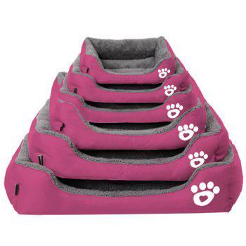 Large Dog Bed Puppy Cats Beds Multicolor Soft Waterproof Pets Sleeping Bed House Kennels Matt Pads S-XXXL Size - PINK M