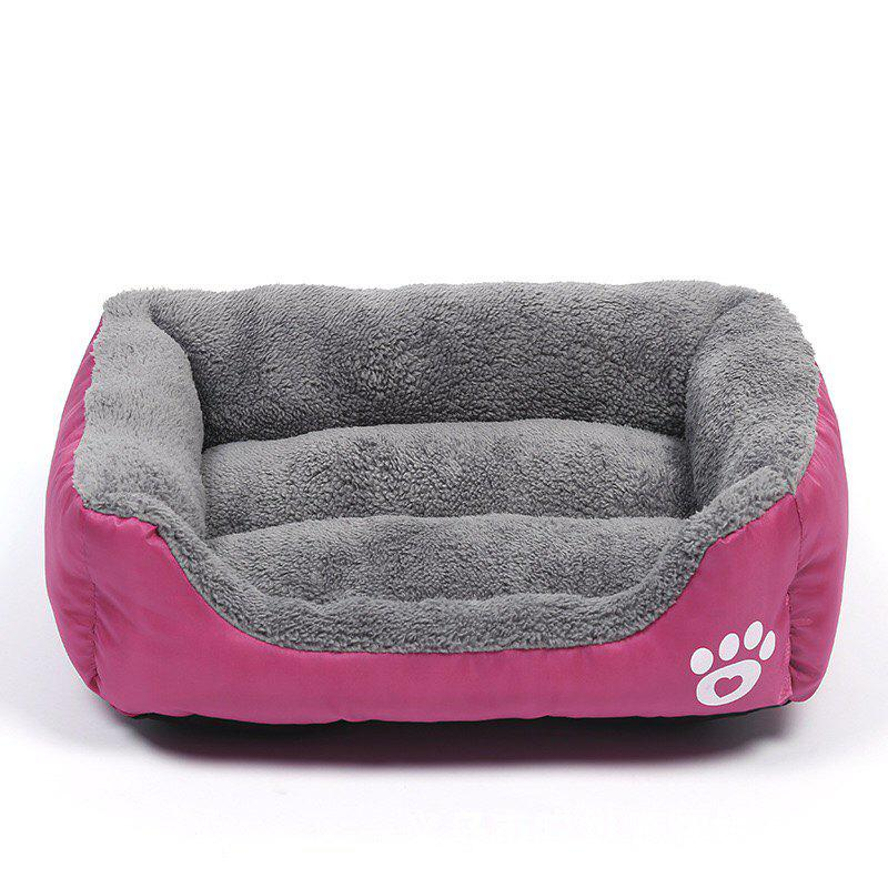 Large Dog Bed Puppy Cats Beds Multicolor Soft Waterproof Pets Sleeping Bed House Kennels Matt Pads S-XXXL Size - PINK S