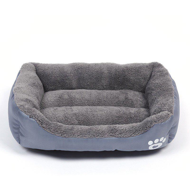 Large Dog Bed Puppy Cats Beds Multicolor Soft Waterproof Pets Sleeping Bed House Kennels Matt Pads S-XXXL Size - GRAY S