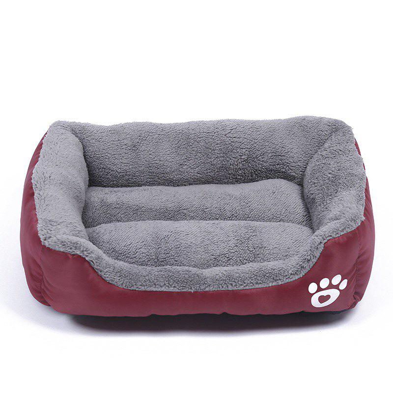 Large Dog Bed Puppy Cats Beds Multicolor Soft Waterproof Pets Sleeping Bed House Kennels Matt Pads S-XXXL Size - WINE RED M