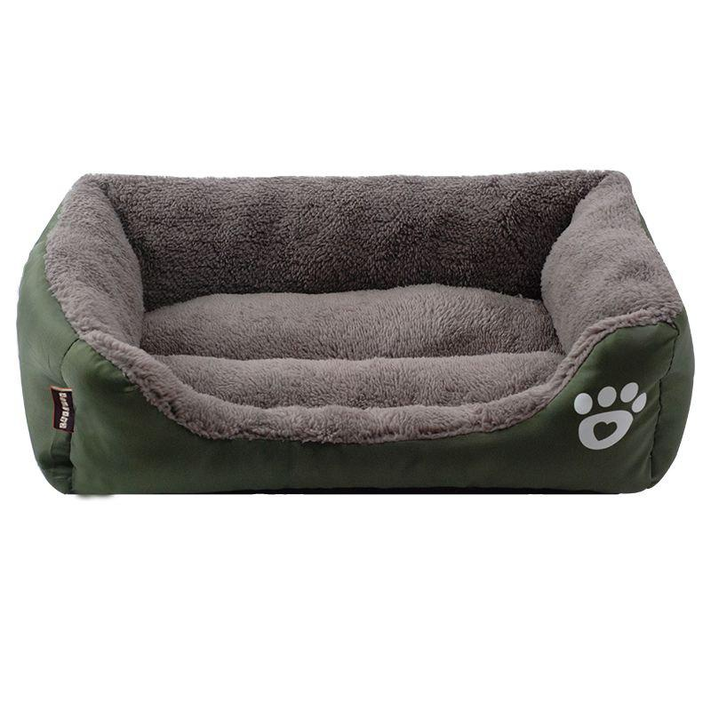 Large Dog Bed Puppy Cats Beds Multicolor Soft Waterproof Pets Sleeping Bed House Kennels Matt Pads S-XXXL Size - DARK GREEN 2XL