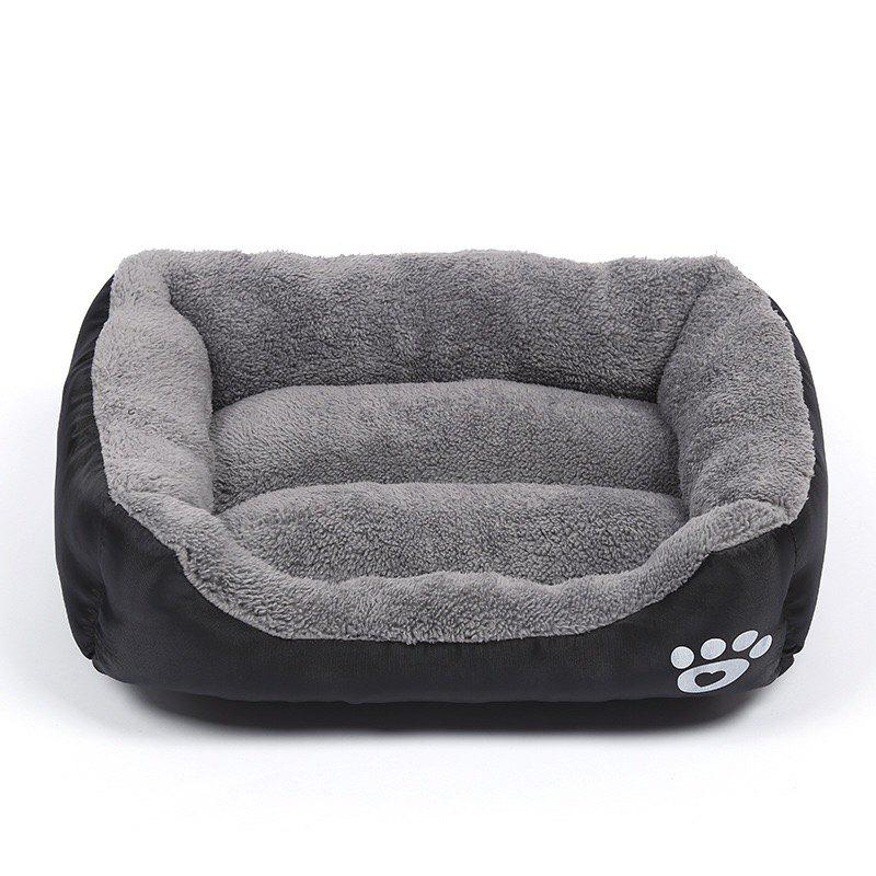 Large Dog Bed Puppy Cats Beds Multicolor Soft Waterproof Pets Sleeping Bed House Kennels Matt Pads S-XXXL Size - BLACK L