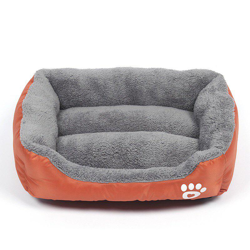 Large Dog Bed Puppy Cats Beds Multicolor Soft Waterproof Pets Sleeping Bed House Kennels Matt Pads S-XXXL Size - ORANGE L