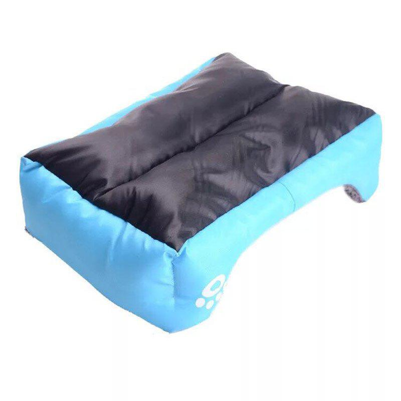 Large Dog Bed Puppy Cats Beds Multicolor Soft Waterproof Pets Sleeping Bed House Kennels Matt Pads S-XXXL Size - BLUE S