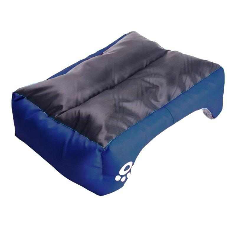 Large Dog Bed Puppy Cats Beds Multicolor Soft Waterproof Pets Sleeping Bed House Kennels Matt Pads S-XXXL Size - SAPPHIRE BLUE 3XL