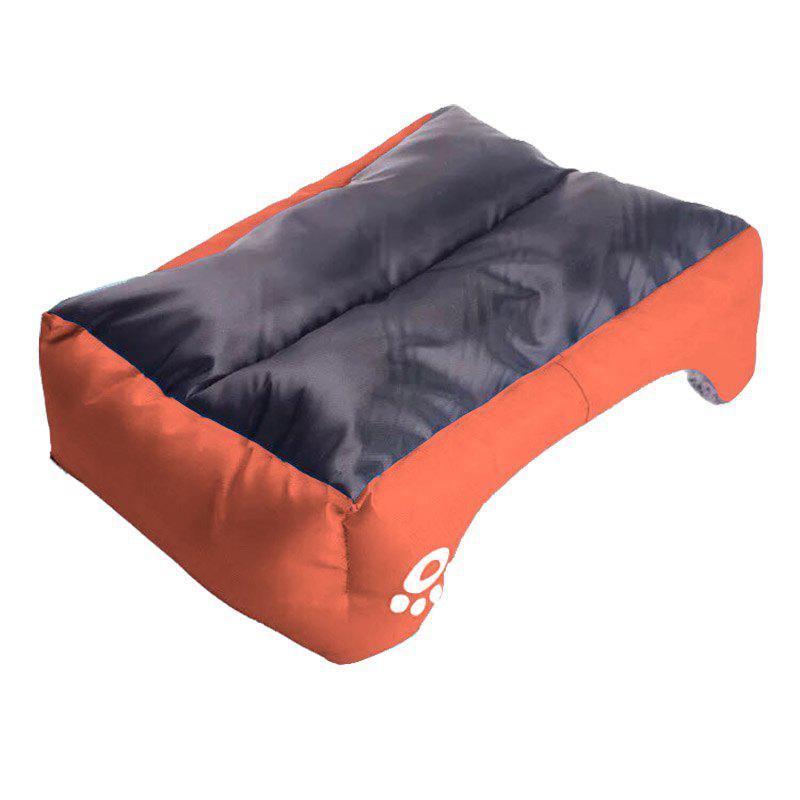 Large Dog Bed Puppy Cats Beds Multicolor Soft Waterproof Pets Sleeping Bed House Kennels Matt Pads S-XXXL Size - ORANGE S