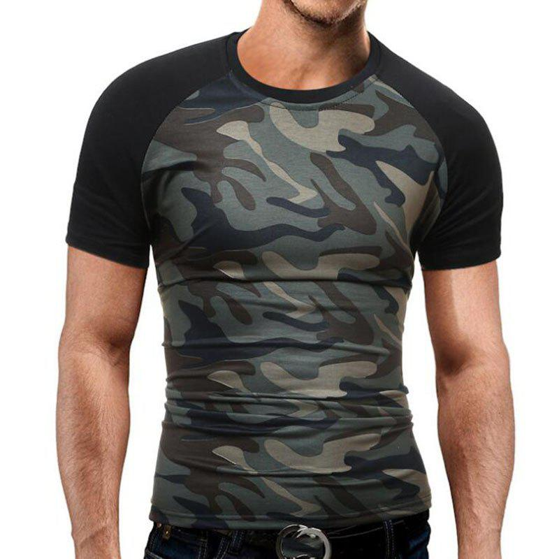 Men's Casual Daily Simple T-shirt Print Round Neck Short Sleeves Cotton men s casual daily simple shirt check stand long sleeves cotton t shirt