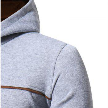 Men's Casual Daily Punk  Gothic T-shirt Color Block Hooded Long Sleeves Cotton - LIGHT GRAY XL
