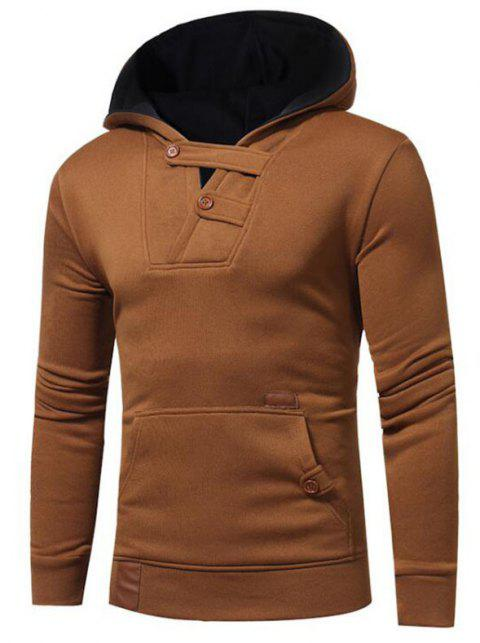 Hot Sale Men's Sports Holiday Casual Daily Hoodie Solid Oversized Hooded Micro Elastic Cotton Long Sleeve Fall Winter - TAN 2XL