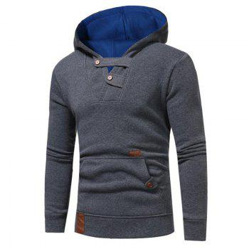 Hot Sale Men's Sports Holiday Casual Daily Hoodie Solid Oversized Hooded Micro Elastic Cotton Long Sleeve Fall Winter - GRAY GRAY