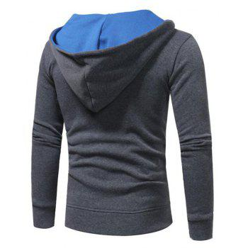 Hot Sale Men's Sports Holiday Casual Daily Hoodie Solid Oversized Hooded Micro Elastic Cotton Long Sleeve Fall Winter - GRAY 3XL