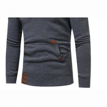 Hot Sale Men's Sports Holiday Casual Daily Hoodie Solid Oversized Hooded Micro Elastic Cotton Long Sleeve Fall Winter - GRAY M