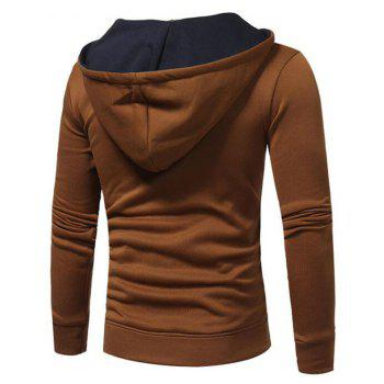 Hot Sale Men's Sports Holiday Casual Daily Hoodie Solid Oversized Hooded Micro Elastic Cotton Long Sleeve Fall Winter - TAN M