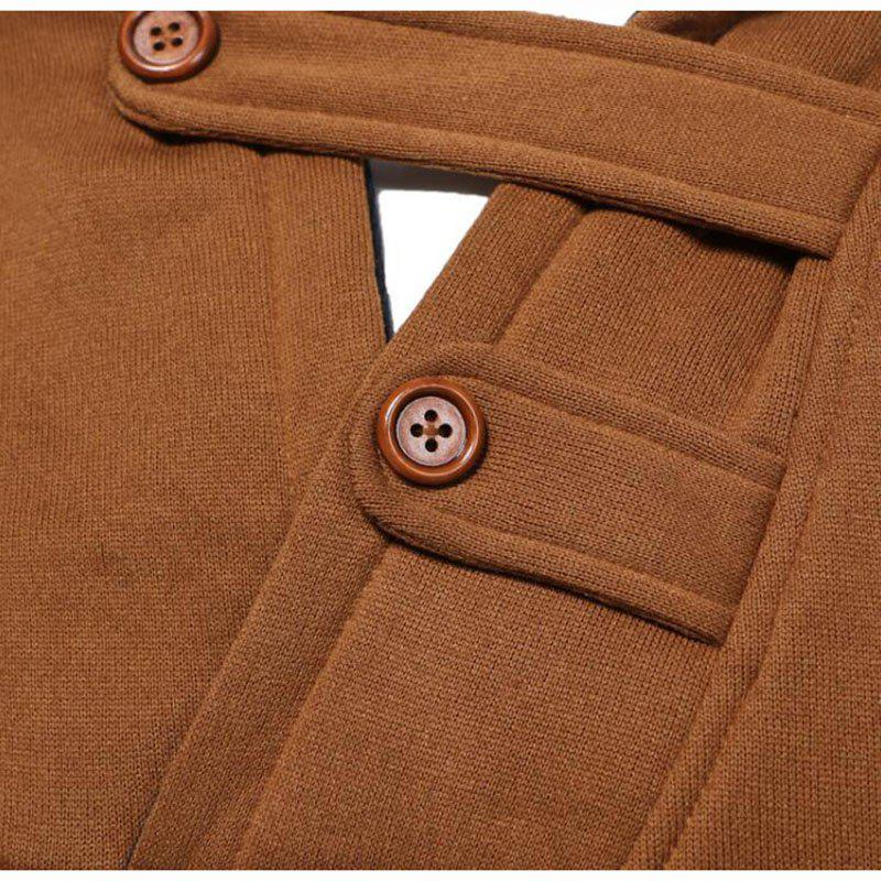 Hot Sale Men's Sports Holiday Casual Daily Hoodie Solid Oversized Hooded Micro Elastic Cotton Long Sleeve Fall Winter - TAN L