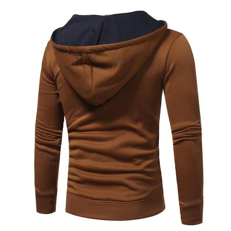 Hot Sale Men's Sports Holiday Casual Daily Hoodie Solid Oversized Hooded Micro Elastic Cotton Long Sleeve Fall Winter - TAN XL