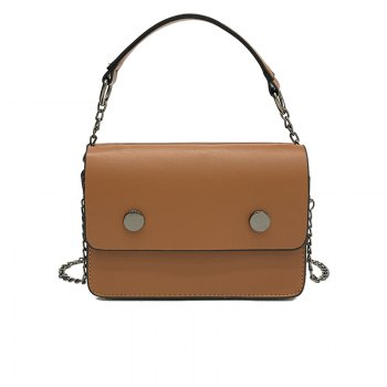 Tide Handbags Shoulder Small Square Package Retro Wild Messenger Bag - LIGHT BROWN LIGHT BROWN