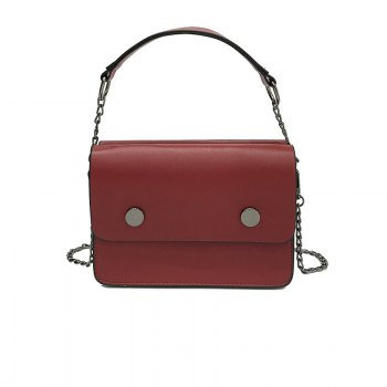 Tide Handbags Shoulder Small Square Package Retro Wild Messenger Bag - RED RED