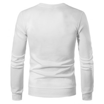 2018 Spring and Summer Turtleneck Totem Long Sleeved T-Shirt - WHITE XL