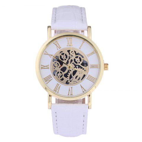 REEBONZ New Style Fashion Gear Machinery Quartz  Wristwatches - WHITE