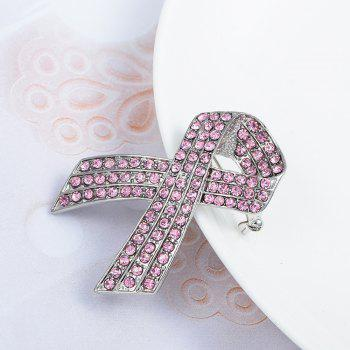 Rinestone Brooch Clothes Accessories Gold-color Enamel Brooches Lady Women Jewelry Pins - SILVER / PINK