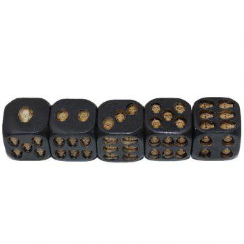5PCS Western Wedding Supplies Creative Dice Capsules 3D Resin Stereo Rounded Amusement -  BLACK