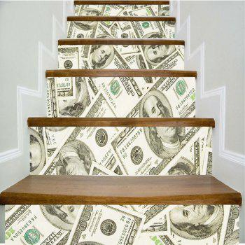 USD Pattern Style Stair Sticker Wall Decor LTT030 - MIX COLOR MIX COLOR
