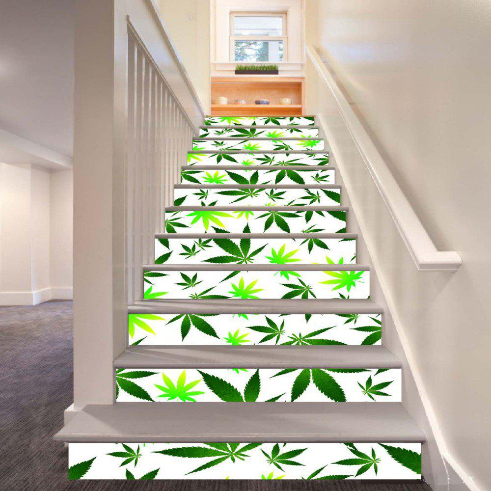 Leaves Pattern Style Stair Sticker Wall Decor LTT032 - MIX COLOR 18CM X 100CM X 6 PIECES
