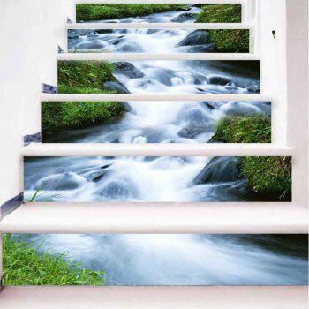 Rush of Water Pattern Style Stair Sticker Wall Decor LTT033 - MIX COLOR MIX COLOR