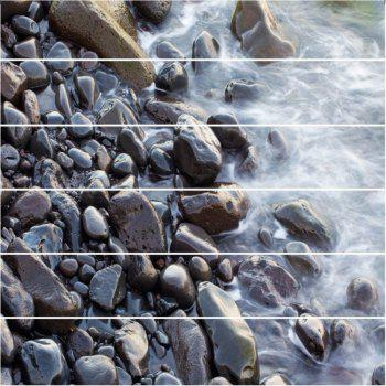 Gravel Pattern By The River Pattern Style Stair Sticker Wall Decor LTT034 - MIX COLOR 18CM X 100CM X 6 PIECES