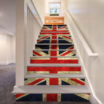 Colored Flags Pattern Style Stair Sticker Wall Decor LTT039 - MIX COLOR MIX COLOR