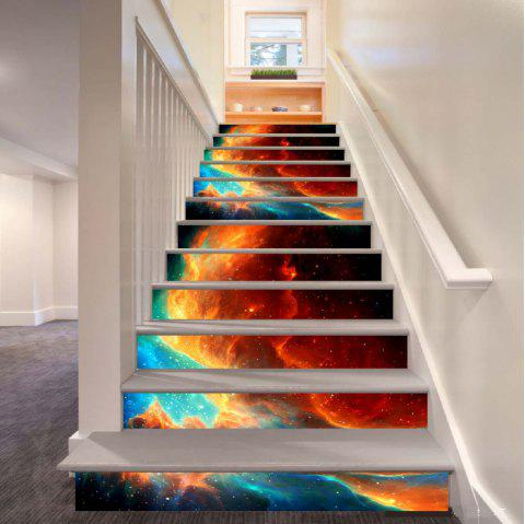 Beautiful Dream Flame Pattern Style Stair Sticker Wall Decor LTT040 - MIX COLOR 18CM X 100CM X 6 PIECES