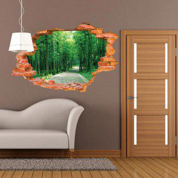 3D Bamboo Scenery Wall Sticker Removable Forest Tree Wall Decals - MIXED COLOR MIXED COLOR