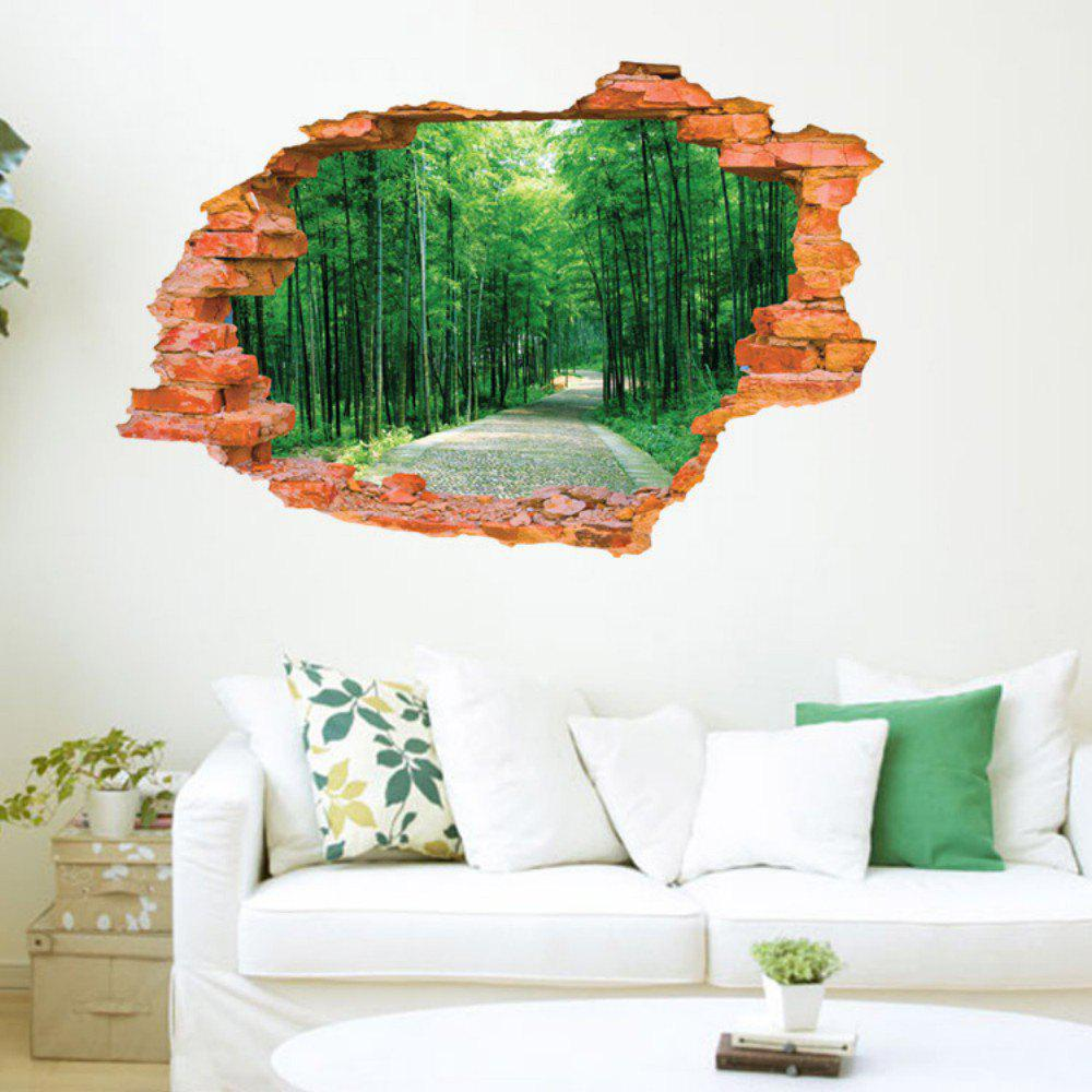 3D Bamboo Scenery Wall Sticker Removable Forest Tree Wall Decals - MIXED COLOR 60 X 90 CM