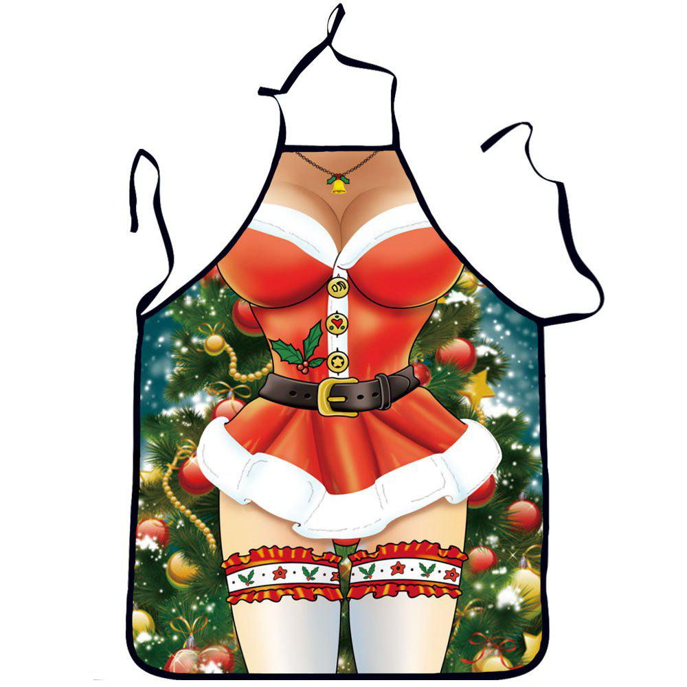 Sexy Funny Cooking Kitchen Aprons for Christmas Party Gifts - RED