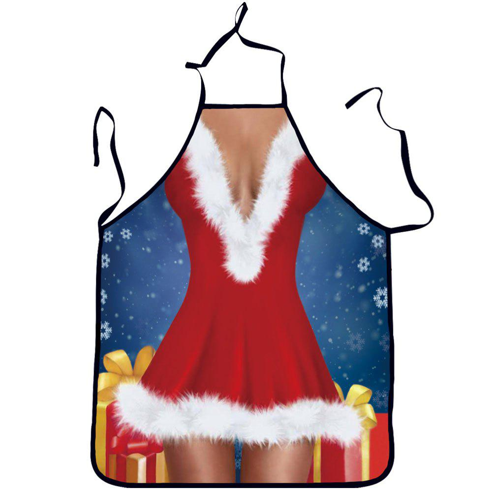 Creative Dress Cooking Kitchen Aprons for Christmas Party Gifts - RED