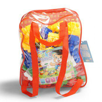 Pp children big granule puzzle early education plastic collage block toy back pack - COLORMIX