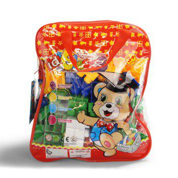 Pp children big granule puzzle early education plastic collage block toy back pack - COLORMIX COLORMIX