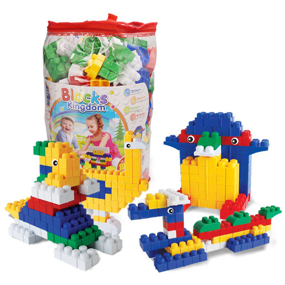 Children big granule plastic early education puzzle piece together DIY building block toys - COLORMIX