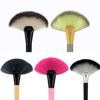 1 Piece BB Cream Powder Blush Blending Brush Highlighter Brush Contour Face Fan Shape Beauty -  BLACK