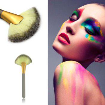 1 Piece BB Cream Powder Blush Blending Brush Highlighter Brush Contour Face Fan Shape Beauty -  CHAMPAGNE