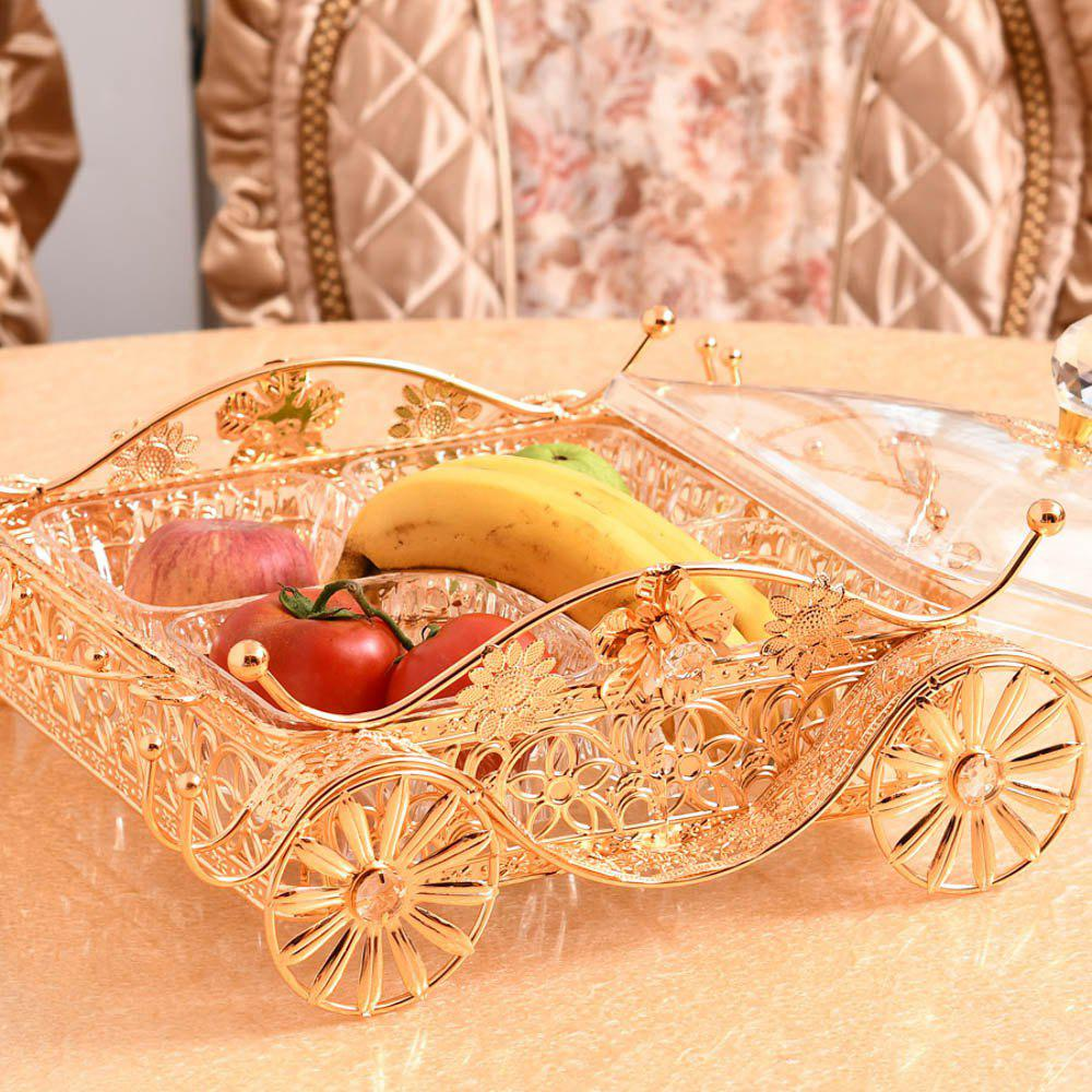 Exquisite metal hollow with a fruit tray fruit basket hotel appliancesSGL01-4 - PURE COLOR