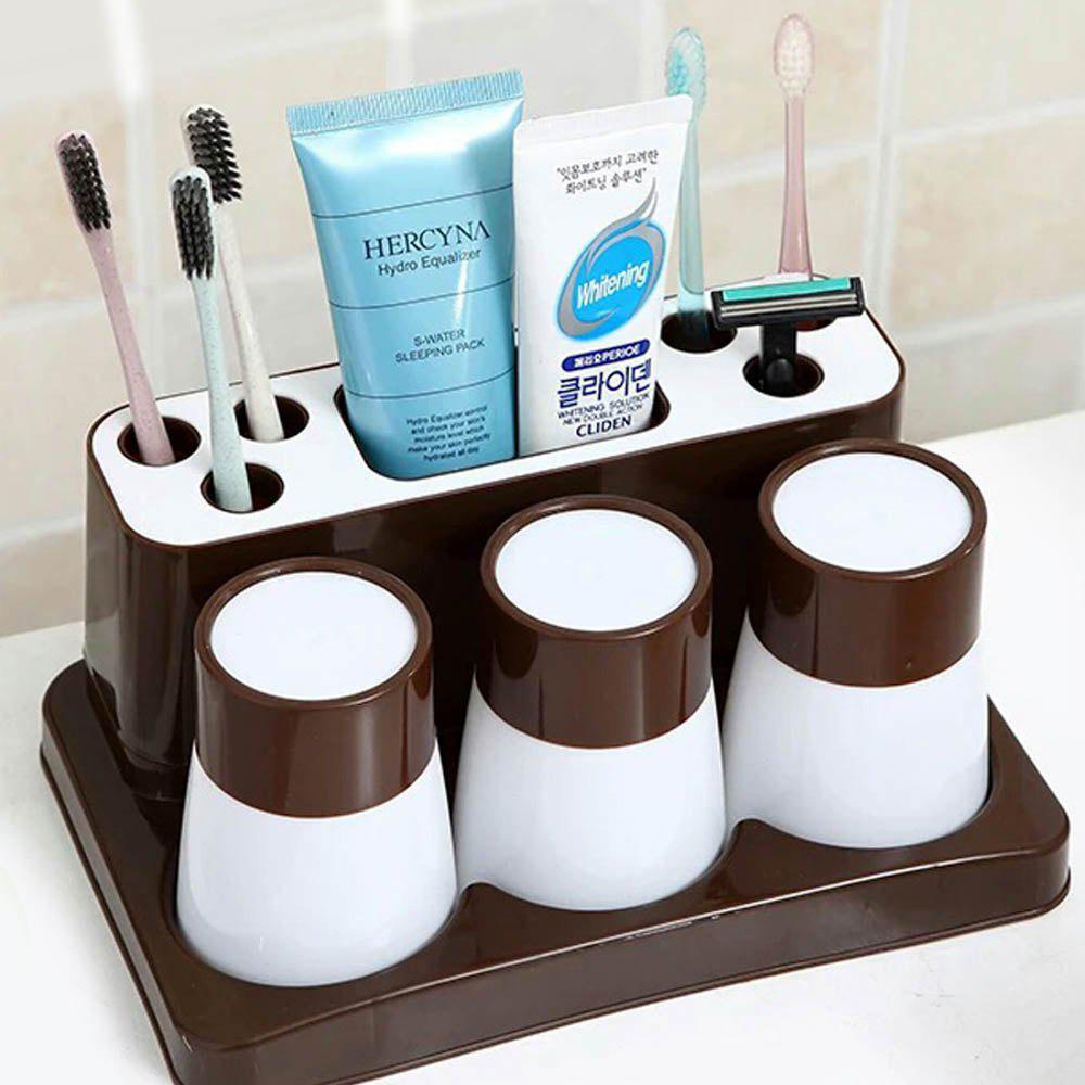 Toothbrush toothpaste creative bathroom set storage box SHYP06 - MOCHA