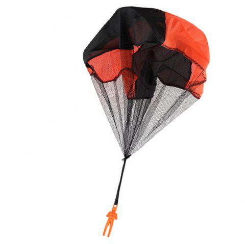 Children Throwing Soldier Parachute Chamber Outdoor Sport Classic Toy - ORANGE