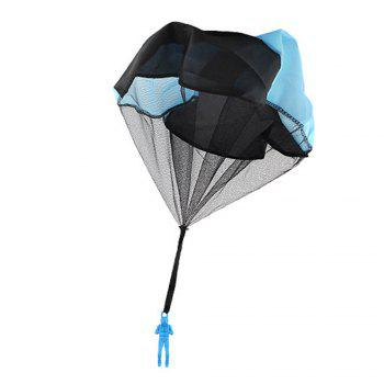Children Throwing Soldiers Parachute Chamber Outdoor Sports Strange New Toy -  BLUE