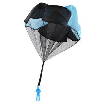 Children Throwing Soldier Parachute Chamber Outdoor Sport Classic Toy - BLUE