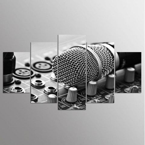 YSDAFEN HD Printed Music Microphone Canvas Print Room Decor - COLORMIX 30X40CMX2+30X60CMX2+30X80CMX1(12X16INCHX2+12X24INC