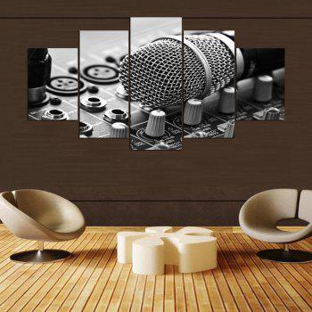 YSDAFEN HD Printed Music Microphone Canvas Print Room Decor - COLORMIX COLORMIX