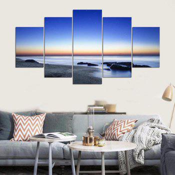 YSDAFEN 5 Panel Modern California Hd Canvas Art for Living Room Wall Picture - COLORMIX 30X40CMX2+30X60CMX2+30X80CMX1(12X16INCHX2+12X24INC