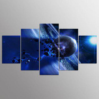 YSDAFEN 5 Panel Modern Saturn Canvas Print Art for Living Room Wall Picture - COLORMIX COLORMIX