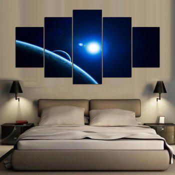 YSDAFEN 5 Panel Modern Red Dwarf Star of Galaxy Canvas Art for Living Room Wall Picture - COLORMIX 30X40CMX2+30X60CMX2+30X80CMX1(12X16INCHX2+12X24INC